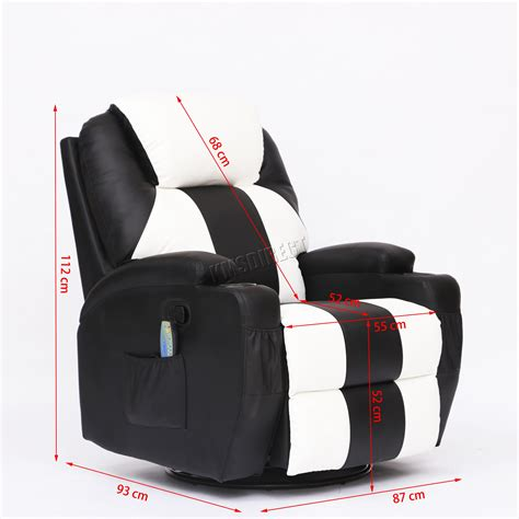 Reclining Chair With Heat by Foxhunter Bonded Leather Recliner Chair Cinema