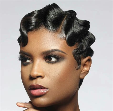 Finger Wave Hairstyle For Black by Black Hair Design Black Hair Design Black