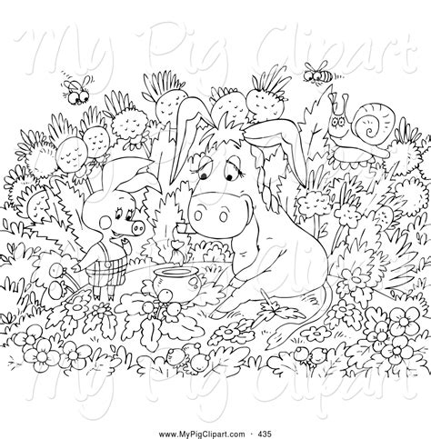 black and white coloring pages pig coloring pages