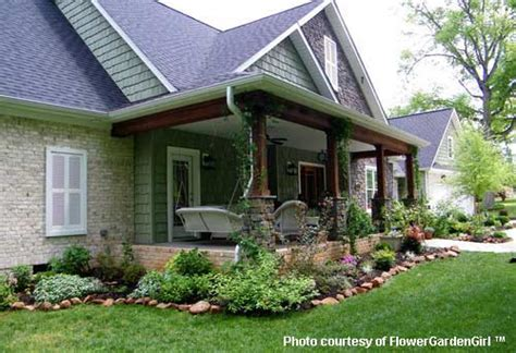 Landscape Ideas Around Front Porch Landscaping With Rocks Around Your Porch