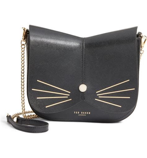 ted baker london kittii cat leather crossbody bag nordstrom