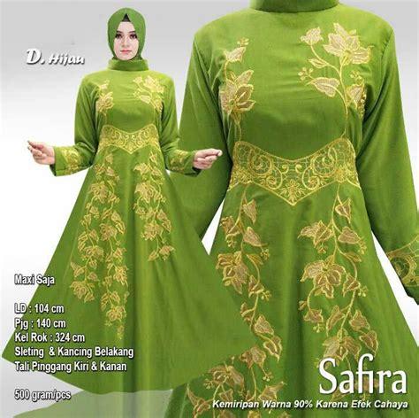 Baju Safira baju gamis pesta baloteli terbaru safira hijau baju