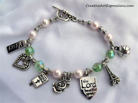 Jewelry Blogs Handmade - creative expressions handmade pink green charm