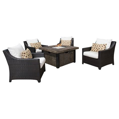 rst brands deco 5 patio pit seating set with