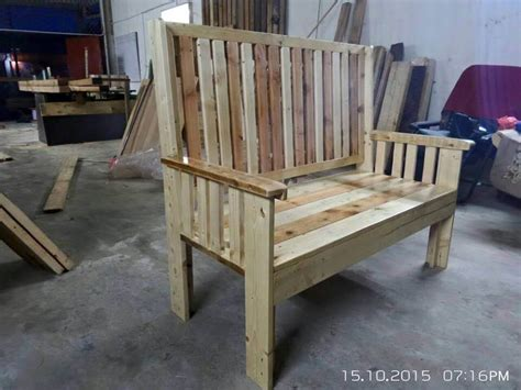bench made of pallets garden bench made from pallets