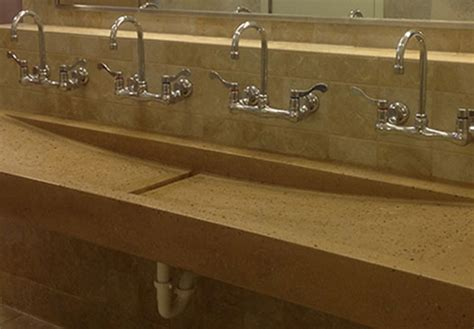 Trough sink custom bathroom trough sink designs for commercial and residential applications