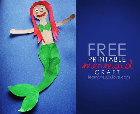 mermaid crafts for printable mermaid craft