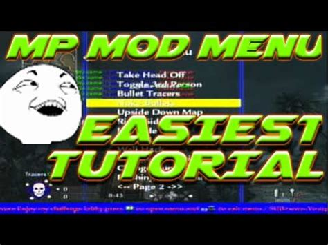 waw mod menu tutorial how to install mod menu waw multiplayer easiest tutorial
