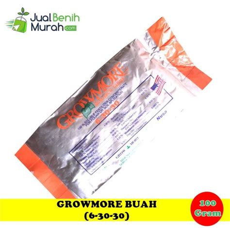Pupuk Growmore Buah pupuk growmore buah 6 30 30 100 gram jualbenihmurah