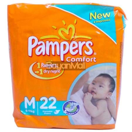 comfort for baby diapers pers comfort disposable baby diapers medium 22pcs 6 11kg