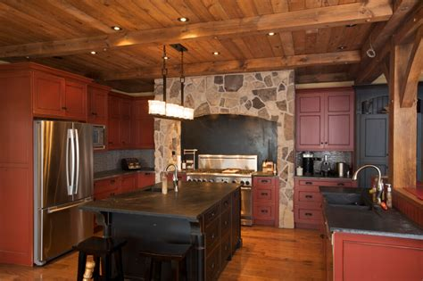 Rustic Black Kitchen Cabinets 52 Kitchens With Wood And Black Kitchen Cabinets