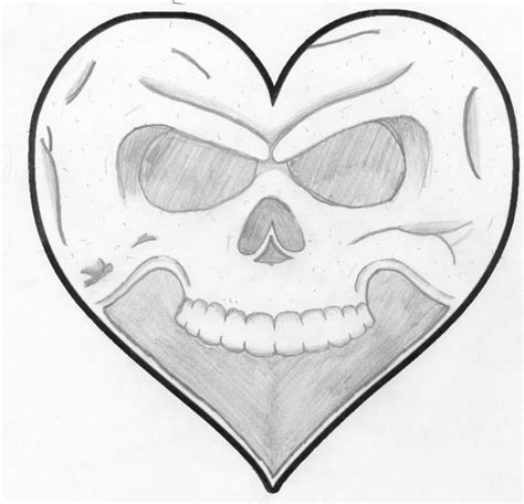 Drawing Hearts by Drawings Drawings Of Hearts And Skulls Posted On