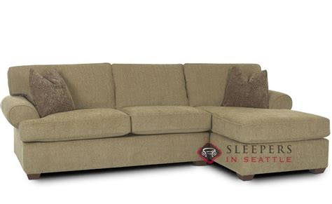 Customize And Personalize Tacoma Chaise Sectional Fabric Sofa Sleeper With Chaise