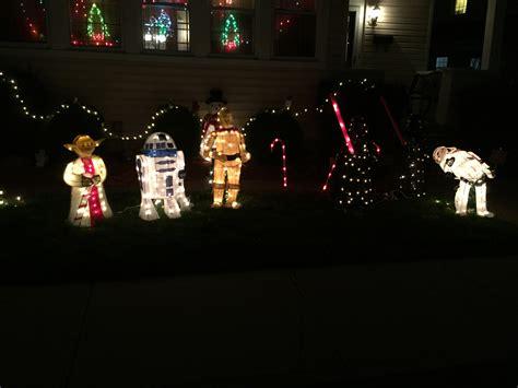 star wars christmas lights star wars christmas yard decorations christmas lights