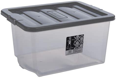 litre clear plastic storage boxes  lids