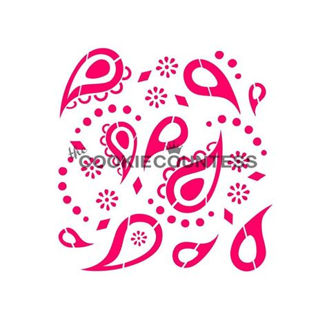 cookie stencils cookie countess paisley pattern cookie stencil tools