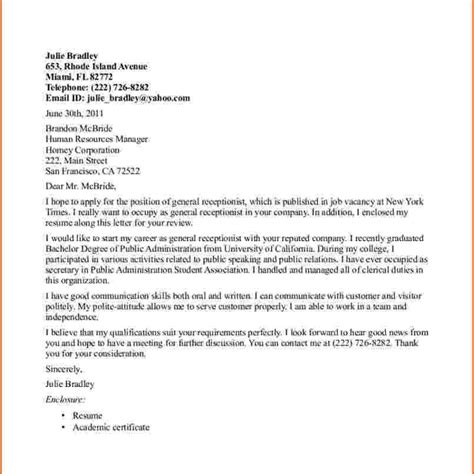 application letter for the post of a receptionist in a hotel application sle letter post 28 images sle of