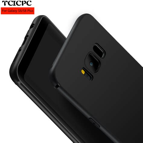 Softcase 360 Sillicon Cover Samsung S8 S8 Plus Soft Ultrathin tcicpc for samsung galaxy s8 s8 plus silicone tpu luxury 360 protected ultra thin scrab