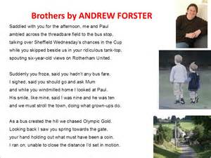 Brothers Andrew Forster Essay brothers read by andrew forster