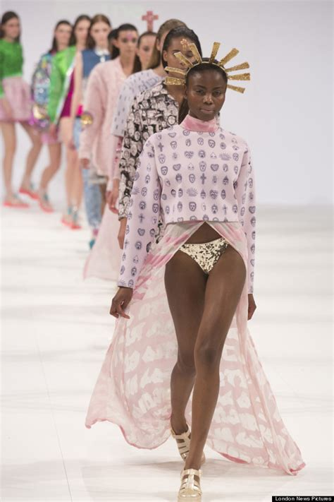 Graduate Fashion Week Trendwatch Nineties Neon by Graduate Fashion Week 2013 Ravensbourne Catwalk Show