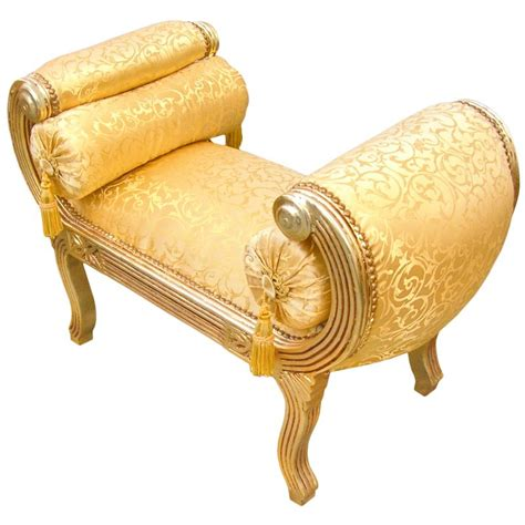 roman bench roman bench gold satine fabric and gold wood