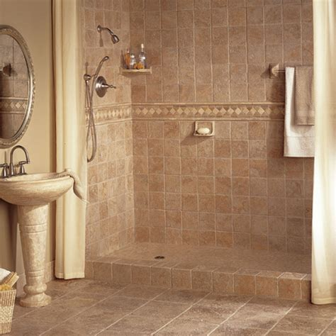 Tile Showers For Small Bathrooms Bathroom Designs Small Bathroom Tile Ideas Brown Tiles Oval Steel Framed Mirror Steel