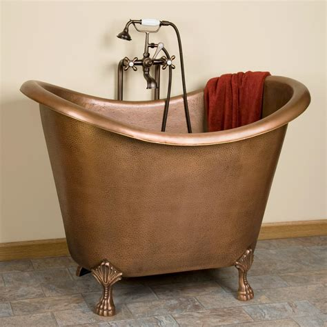 baby caleb hammered copper clawfoot tub from