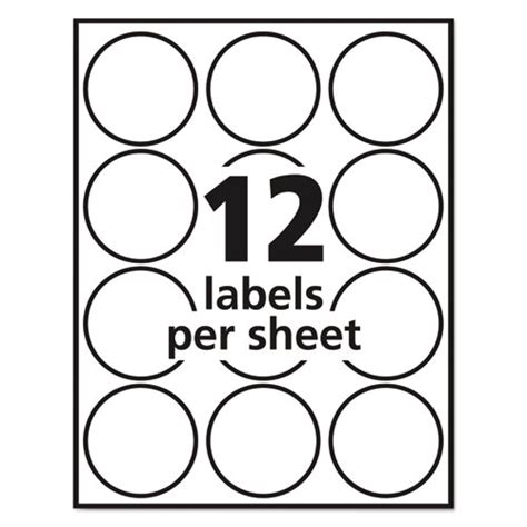 free templates for avery round labels avery 22807 labels