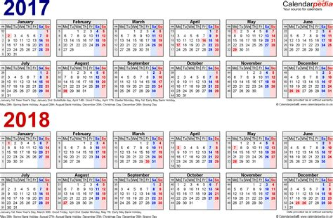 desk calendar 2017 2018 two year calendars for 2017 2018 uk for pdf