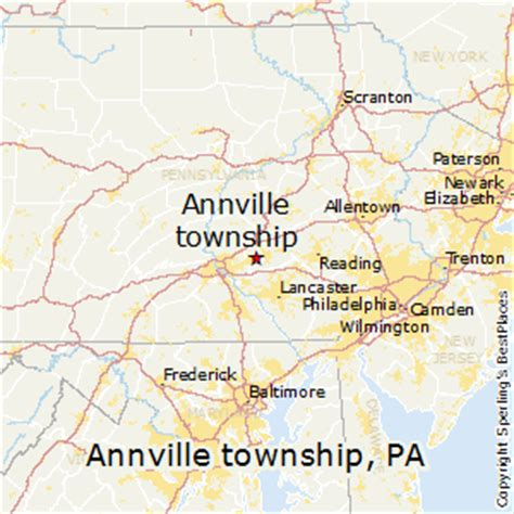 comparison annville township pennsylvania midland