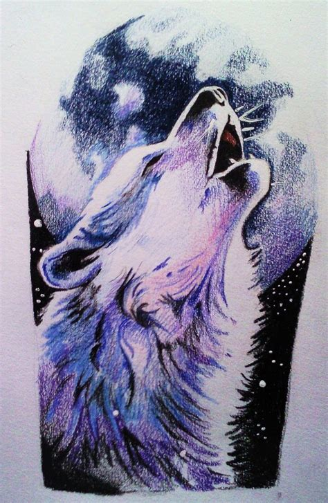wolf howling at moon tattoo howling wolf howling wolf by phantomphreaq on