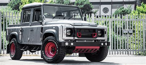 kahn land rover defender double cab custom kahn land rover defender 110 makes impressive debut