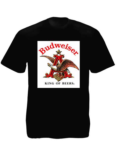 Tees Kaos T Shirt Budweiser shirt noir coton homme aigle budweiser tshirt