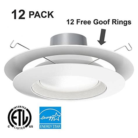 Whitecool White4000k Ring Light Led Ceiling Downlightfree Shipping | 12 pack 18w 5 6 led recessed light with free goof ring