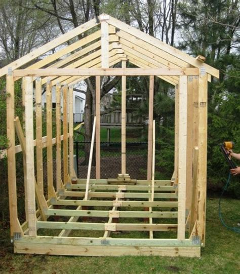 Framing Shed by Image Gallery Shed Framing