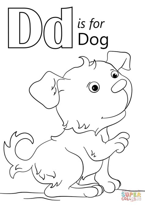 letter d coloring pages for toddlers letter d is for dog coloring page download education