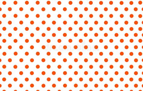 red dot pattern on back an orange red polka dot with white background stock photo
