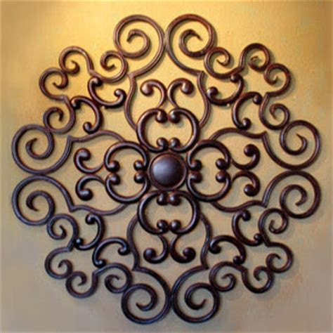 ornamental metal wall decor design