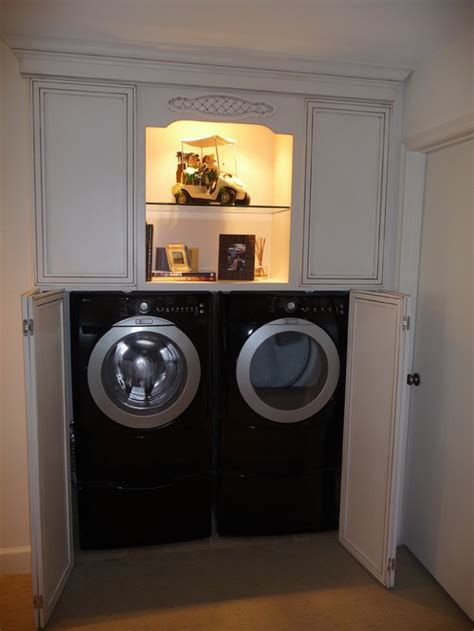 washer dryer cabinet enclosed washer dryer cabinet
