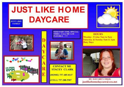 just like home daycare childcare portsmouth virginia