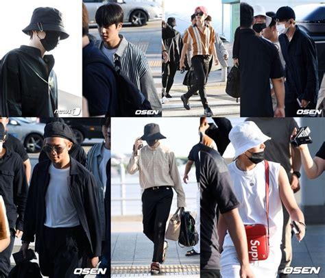 Kaos Bts Bangtan Boys V Putih akhirnya muncul bts adu ganteng di bandara menuju