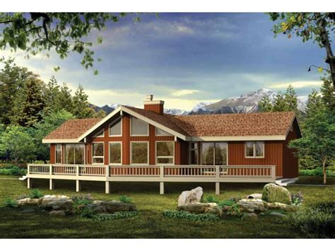 vacation home designs eplans a frame house plan a grand vacation or retirement home 1230 square and 3