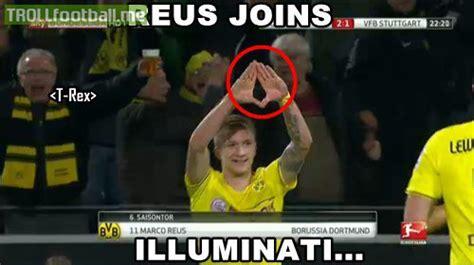football illuminati reus joins illuminati troll football