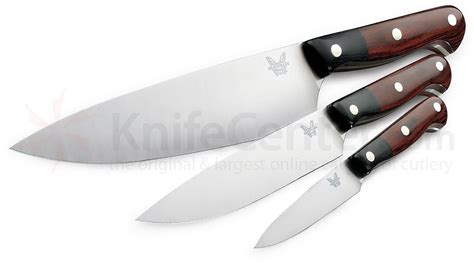 benchmade kitchen knives benchmade model 4501 gold class prestigedges 3 piece