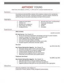 Inroads Resume Template by Clerical Assistant Resume Objective