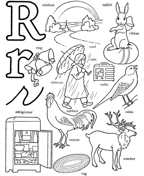 printable alphabet letters with pictures and words abc coloring pages printable coloring home