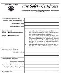 extinguisher certificate template pittwater council
