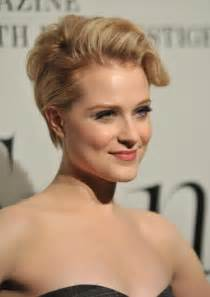 wood hairstyles updo for short hair evan rachel wood short blonde updo