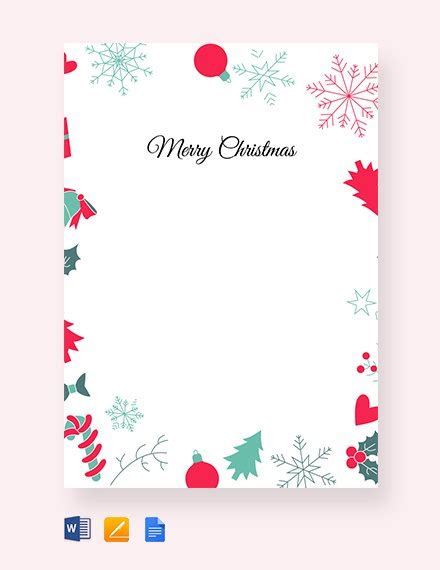 13 Christmas Letter Templates Word Apple Pages Google Docs Free Premium Templates Letter Border Template