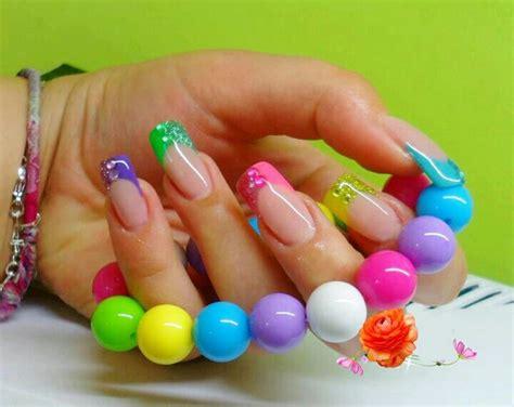 imagenes de uñas acrilicas de colores u 241 as decoradas decoracion de u 241 as dise 241 os de u 241 as
